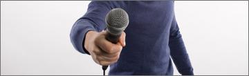 Sprechen vorm Mikrofon: eine Herausforderung