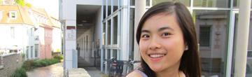 Die Trägerin des Augsburger DAAD-Preises 2012, Thi Tanh Tam Nguyen